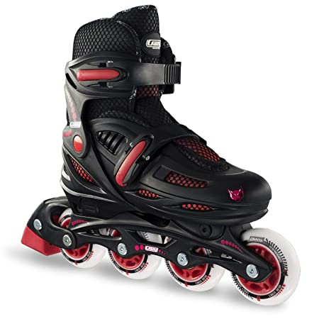 Crazy Skates Adjustable Inline Skates for Boys Beginner Kids Roller Blades Available in Two Colors
