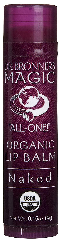 Dr. Bronner's Organic Lip Balm, Naked, 0.15 Oz Dr. Bronner' s 0018787920046