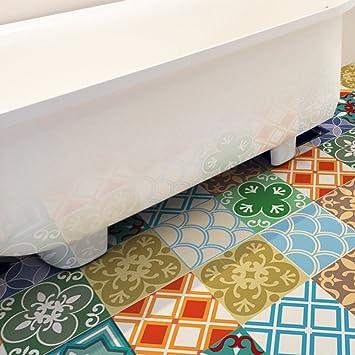 YYH Nachahmung Bunt Keramikfliese 3D Boden Aufkleber Individualität  Dekorativ Umweltfreundlich PVC Abziehbilder Zum Badezimmer Schlafzimmer  Eingang