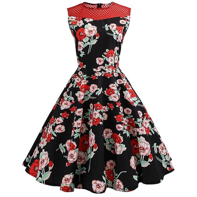 5d645bd43b7 Damen Vintage Geblümt Kleid
