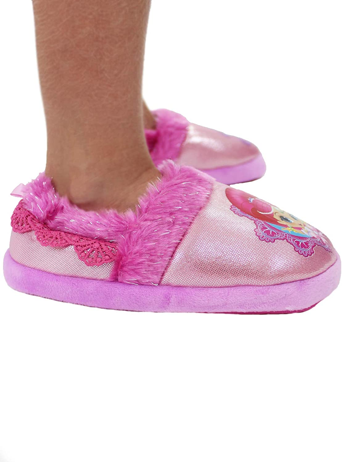 Nickelodeon Shimmer and Shine Toddler Girls Plush Aline Slippers