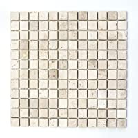 mosaico azulejos piedra natural beige mármol Chiaro Travertine