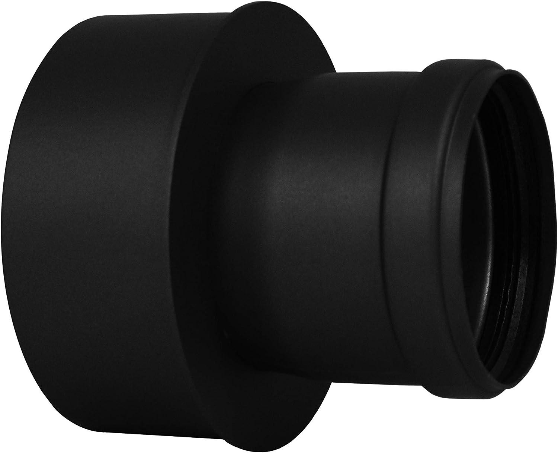 Lanzzas Pellet Pell Etrauch Pipe Pellet Stove Pipe Pellet Stove Pipe Extension Black /ø 80/mm to 120/mm Diameter