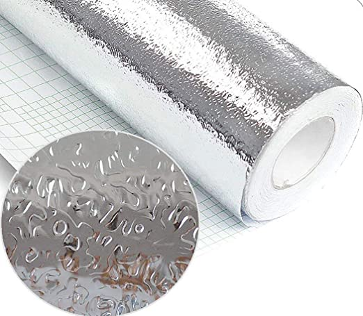 40x100cm Waterproof Kitchen Self-adhesive Foil Sticker Anti-oil Wall Paper Roll