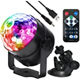 disco lamp Sound Activated Disco Ball LED Strobe Light , RBG Disco lights, party lights,dance lights,Portable Strobe Lamp 7 Modes Stage Par Light for Home Room Dance Parties Birthday DJ Bar Karaoke Xmas Wedding Show Club Pub car party with Remote