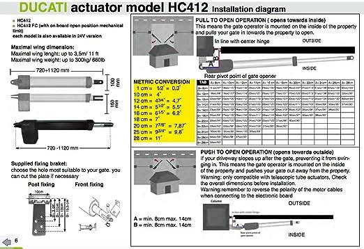 motorización para puerta batiente 2 hoja HC812-400: Amazon.es ...