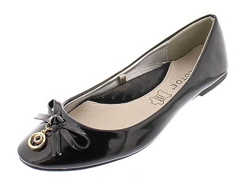patent leather black flats