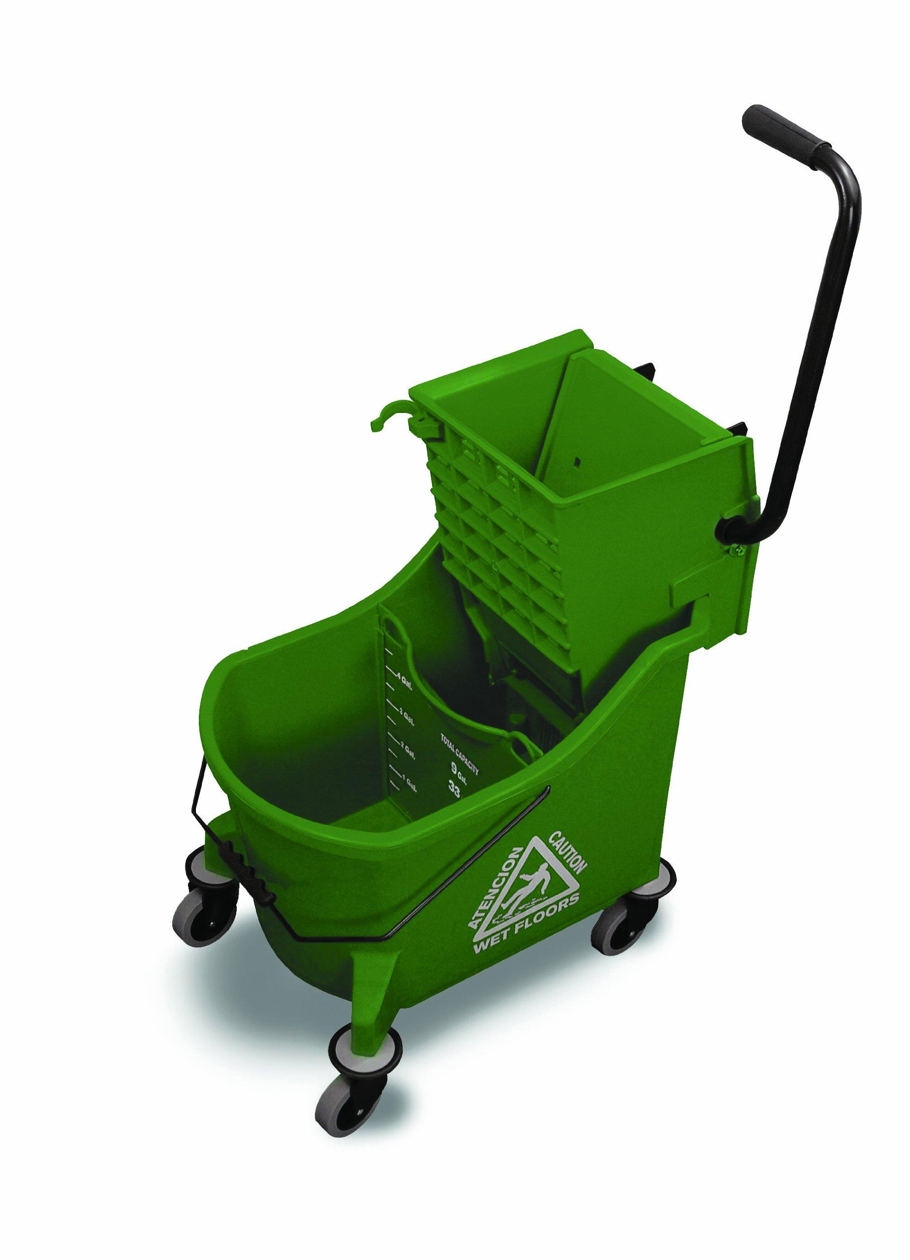 O'Cedar Commercial 6980 MaxiPlus Mop Bucket and Wringer, Green