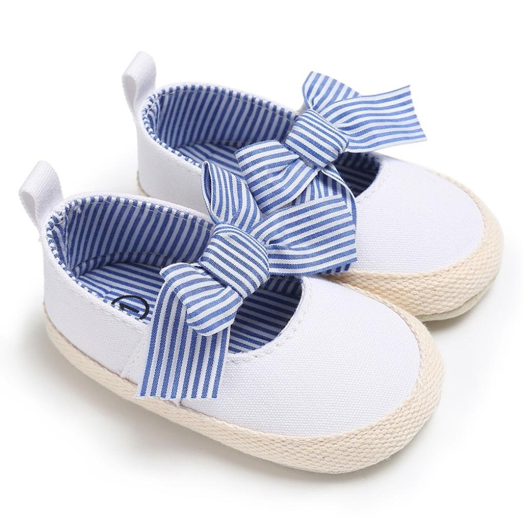 Voberry Toddler Baby Girls Bowknot Canvas Sneakers Soft Sole Princess Dance Shoes Sandals