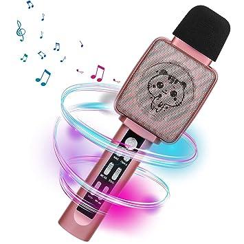 Amazon.com: HOKLAN micrófono de karaoke para niños ...