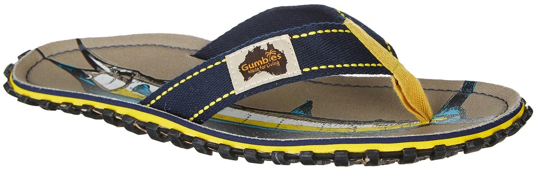 Gumbies Damen Zehentrenner - Rosa/Blau Schuhe in Uuml;bergrouml;szlig;en  46 EU|Sail Fish