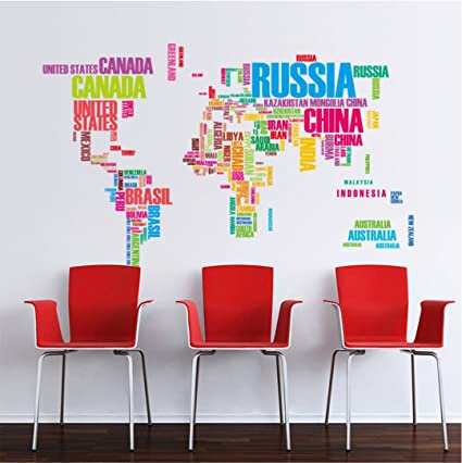 World map english alphabet wall stickers living room background world map english alphabet wall stickers living room background decorative painting gumiabroncs Choice Image