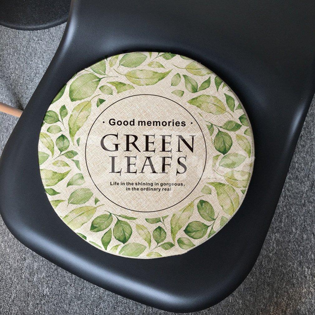 Rainforest Cotton Linen Pillow Leaf Seat Cushion Thick Circular PP Balcony Throw Plant Tatami Washable