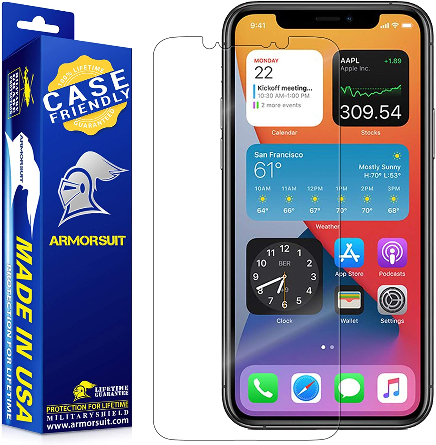 ArmorSuit MilitaryShield [Case Friendly] Screen Protector For iPhone 11 Pro Max (2019) - Anti-Bubble HD Clear Film