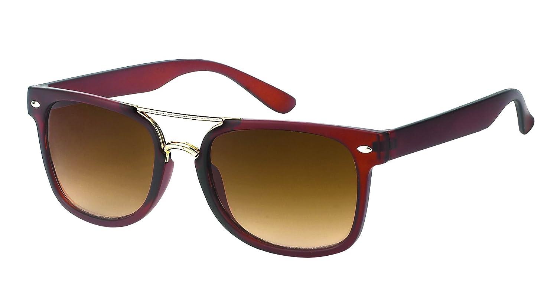 Des lunettes de soleil Chic-net rétro à double jambe 400 Vintage Wayfarer Nerd UV teinté noir vk3iqTeX