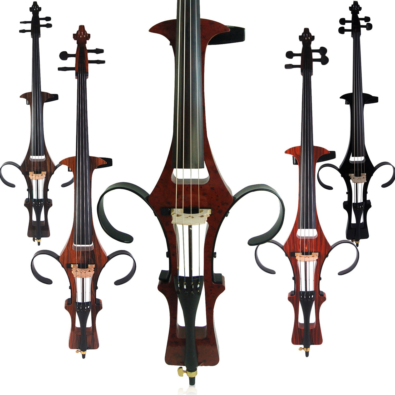 Aliyes Handmade Professional Solid Wood Electric Cello 4/4 Full Size Silent Electric Cello-Soul
