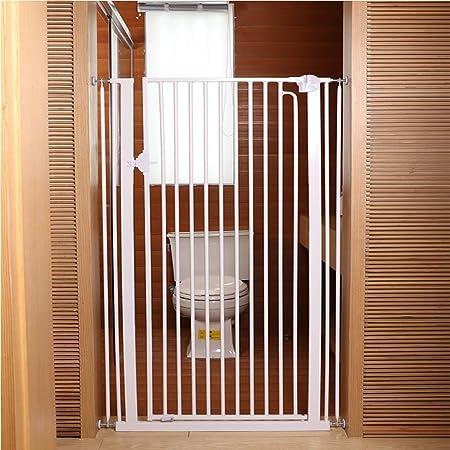 PNFP Puerta for Mascotas Extra Alta y Larga for Perros y Gatos, Barrera for bebés for Puertas Pasillos for escaleras Puertas de Seguridad Interiores de Metal Blanco, 120 cm de Alto: Amazon.es: