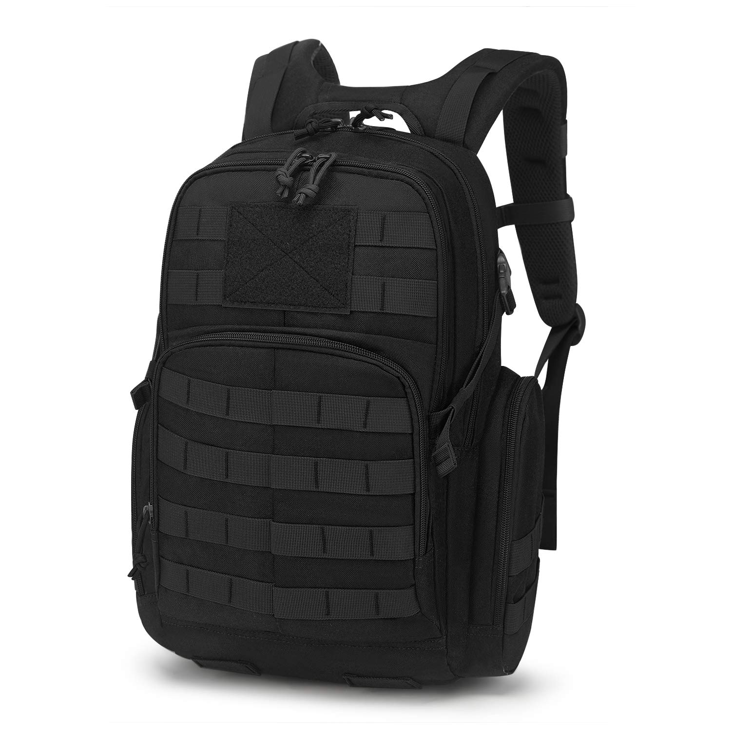 Mardingtop 25L Tactical Backpacks Molle Hiking daypacks for Camping Hiking Military Traveling (25L-Black, 25L)