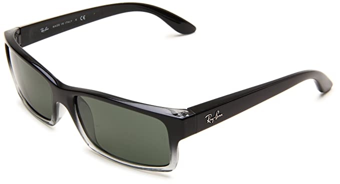 8a8aaf59cb Image Unavailable. Image not available for. Colour  Ray-Ban RB4151 -  GRADIENT BLACK ON GREY Frame CRYSTAL GREEN Lenses ...