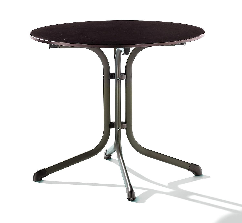 Sieger 1135-70 Puroplan Table de Pliante Boulevard Noisette 85 x 85 x 73 cm