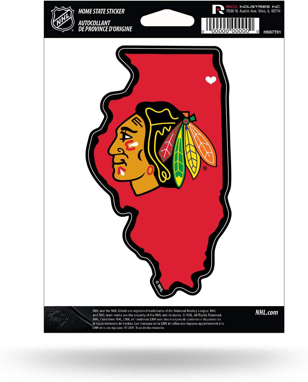 Rico Industries NHL Home State Sticker