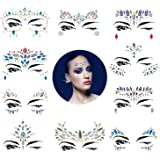 10 Sets Mermaid Face Gems Glitter - Rhinestone Rave Festival Face Jewels, Crystals Face Stickers, Eyes Face Body Jewels Stickers for Music Festivals Bohemian (Mermaid Tale)