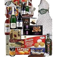 Lote de navidad con jamón/Cesta de navidad mimbre productos de primeras marcas,Paleta