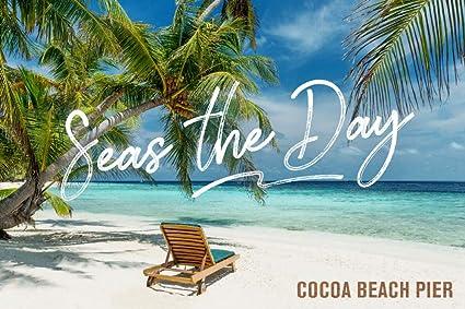 Cocoa Beach Pier >> Amazon Com Cocoa Beach Pier Florida Seas The Day Beach