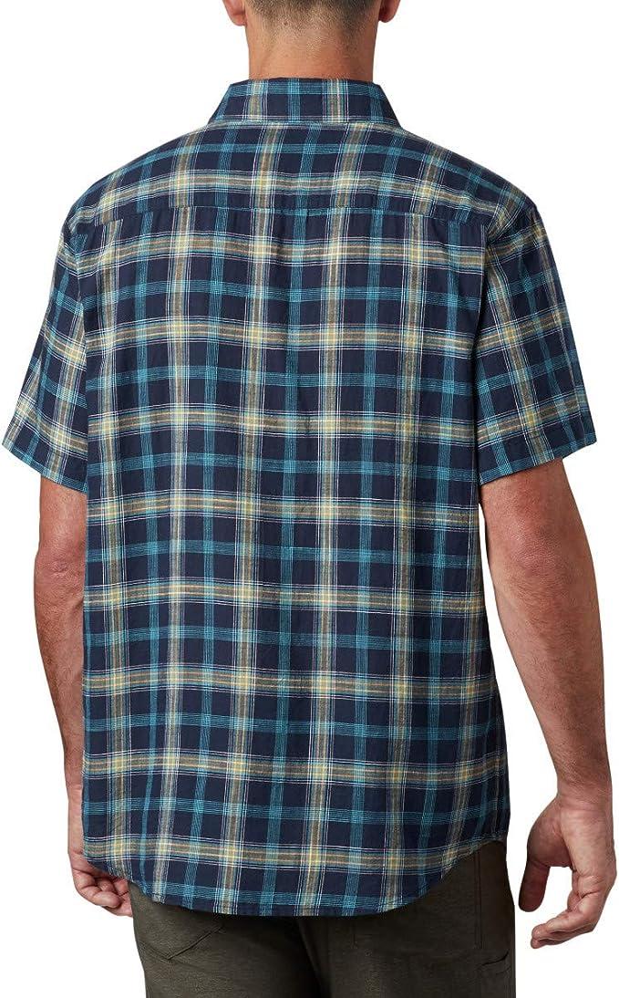 Columbia 哥伦比亚 Under Exposure 男式格纹短袖衬衫 XL码3.4折.88 海淘转运到手约¥134