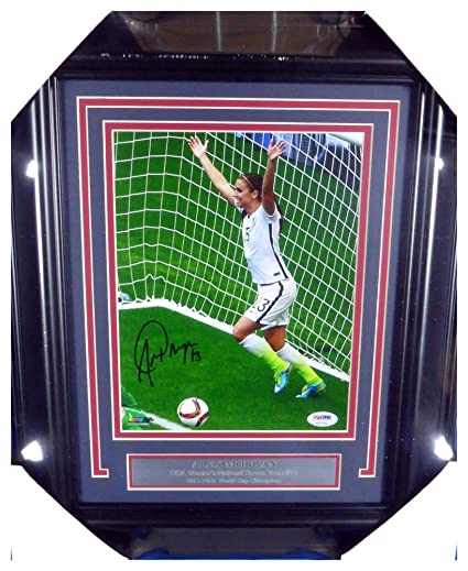f92750554a6 Alex Morgan Autographed Signed Framed 8x10 Photo Team USA - PSA DNA  Authentic at Amazon s Sports Collectibles Store