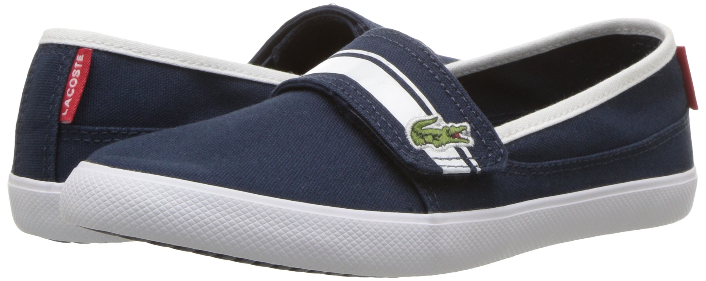 Lacoste Kids' Marice Slip-ONS,Navy/White Cotton Canvas,13. M US Little Kid by Lacoste (Image #5)