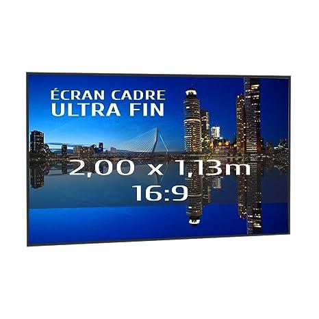 KIMEX 044-6012 Pantalla de proyección fija con marco ultrafino 200 ...