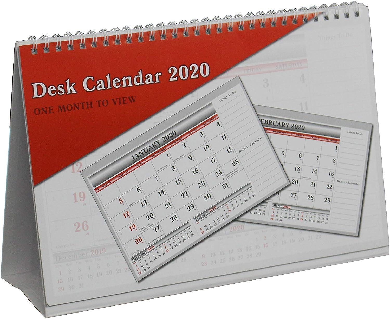 Arpan 2020 - Calendario Da Tavolo 2020, Visualizzazione Mensile, Da Scrivania O Ufficio