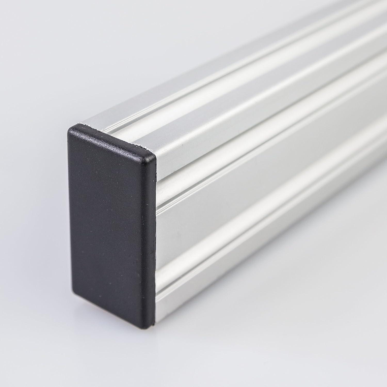 16er Set PVC-Endkappen f/ür 20x40 2040 Aluminium Systemprofile Konstruktionsprofile