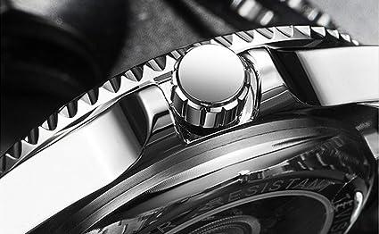 Amazon.com: Swiss Luminous Submariner Watch Mens Mechanical Watch Fashion Steel Waterproof Watch (Gold - Black): Watches