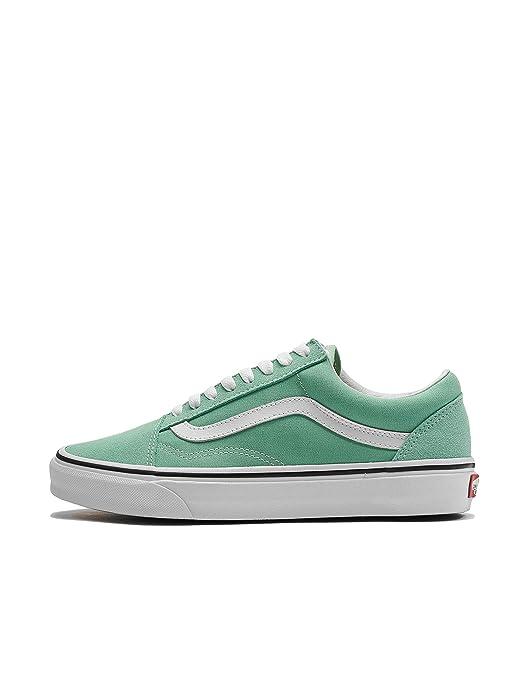 Vans Old Skool Sneaker Damen Herren Kinder Unisex grün mit weißen Streifen