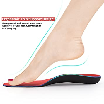 46ec5a0cb4 Speedfeet Arch Support Shoe Insoles for Plantar Fasciitis and Flat Feet,Running&Tennies  Comfort Orthopedic Insert