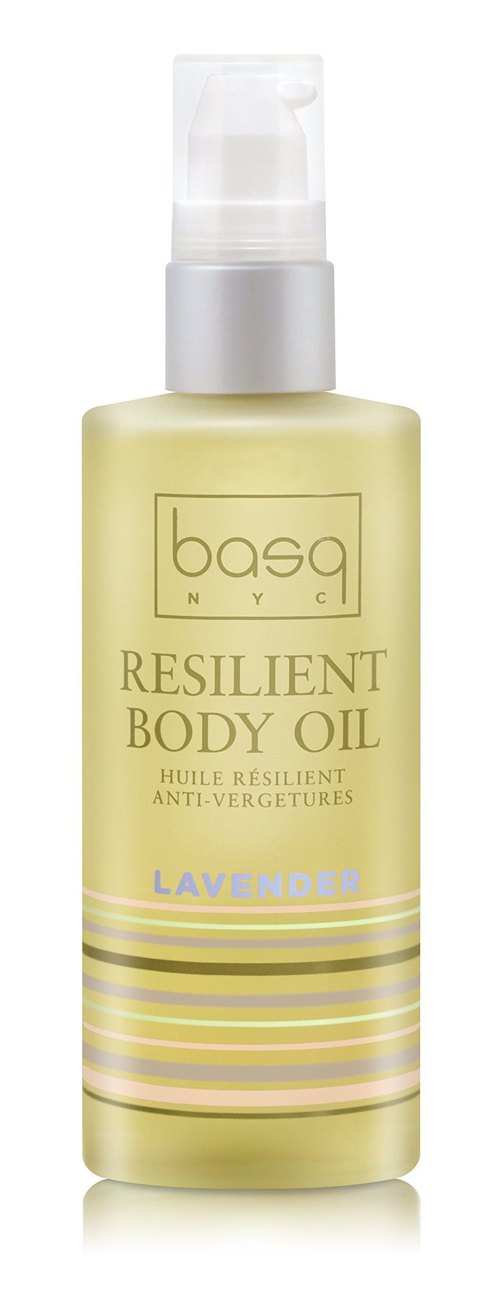 Basq Skin Care Resilient Body Stretch Mark Oil, Lavender, 4 Fluid Ounce