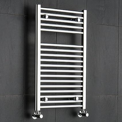 Hudson Reed - Radiador Toallero Modelo Plano en Acero Cromo Para Baño / Cocina - 800
