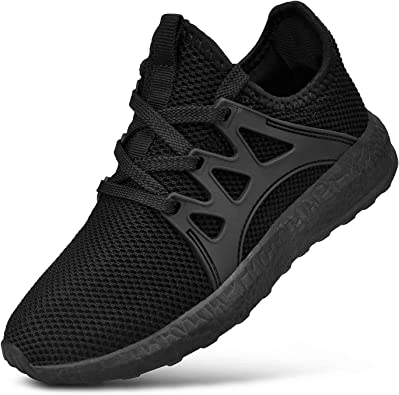 Kids Athletic Tennis Shoes Boys Sneakers Running Shoes Cushioned Breathable Mesh