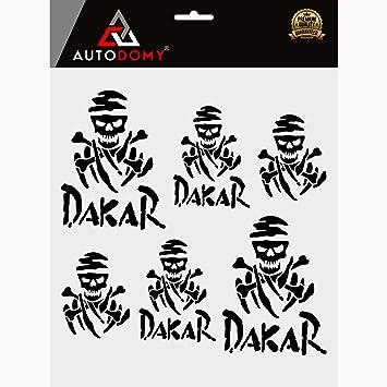 Autodomy Pegatinas Dakar Calavera Pack de 6 Unidades para Coche o Moto (Blanco): Amazon.es: Coche y moto