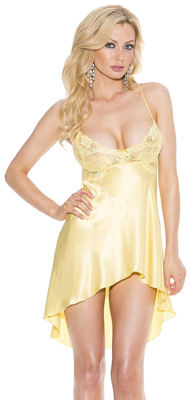 41d7709c70e0 Amazon.com: Shirley of Hollywood Women's Sexy Charmeuse Chemise: Adult  Exotic Chemises: Clothing