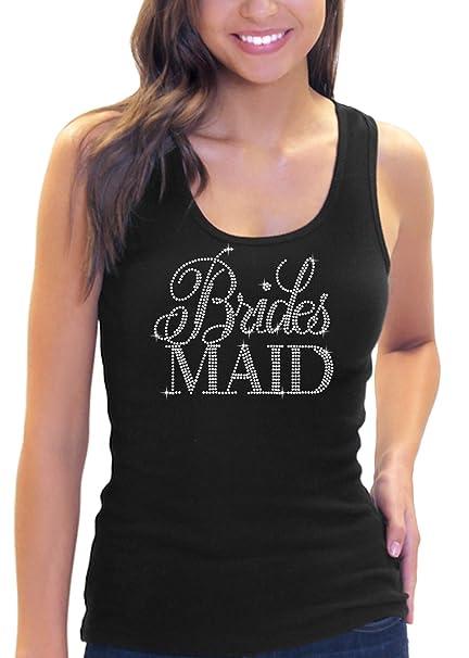 107a0cc8ba06e Amazon.com  Rhinestone Bridesmaid Tank Top Bridal Shower Gift ...