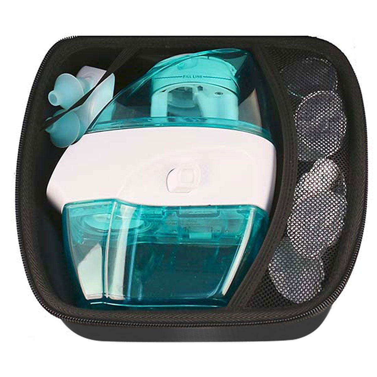 Navage Nasal Irrigation Deluxe Bundle: Naväge Nose Cleaner, 60 SaltPod Capsules, Countertop Caddy, and Travel Case. $160.75 if purchased separately. You save $40.80 (25%) by Navage