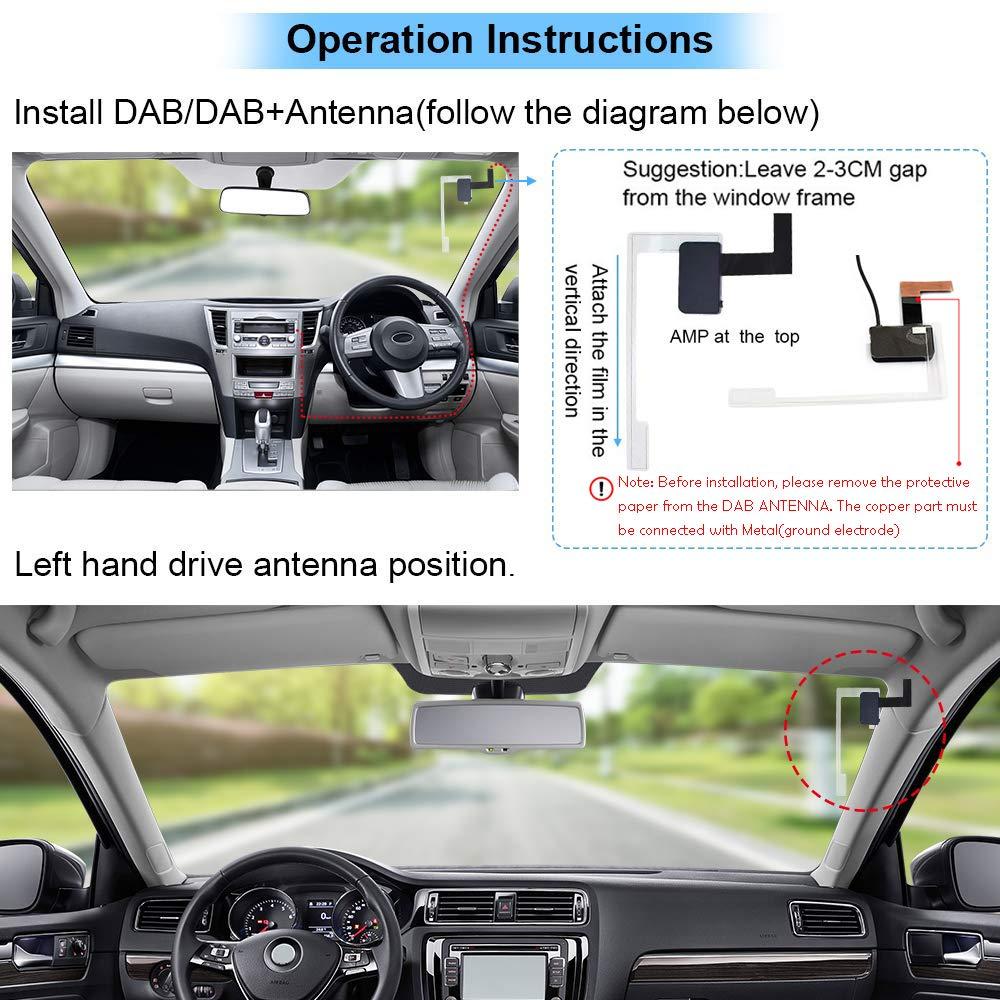 Auto DAB//DAB Ricevitore RDS Europeo Digitale Radio Sintonizzatore con 2.8 LCD color Display A2DP Bluetooth Chiamata Vivavoce Scheda FM Trasmettitore 3,5 mm Aux Uscita Porta TF Card//Porta USB