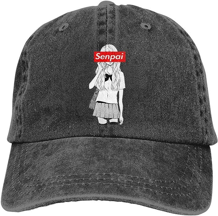 Senpai Dad Hat Adjustable Denim Hat Classic Baseball Cap at Amazon Men s  Clothing store  9e550c8ec79