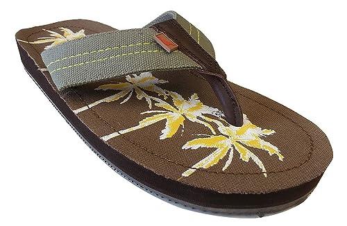 10da771ec478d6 Tommy Bahama Men s Beach Walker Palms Olive Sandal 7 D - Medium