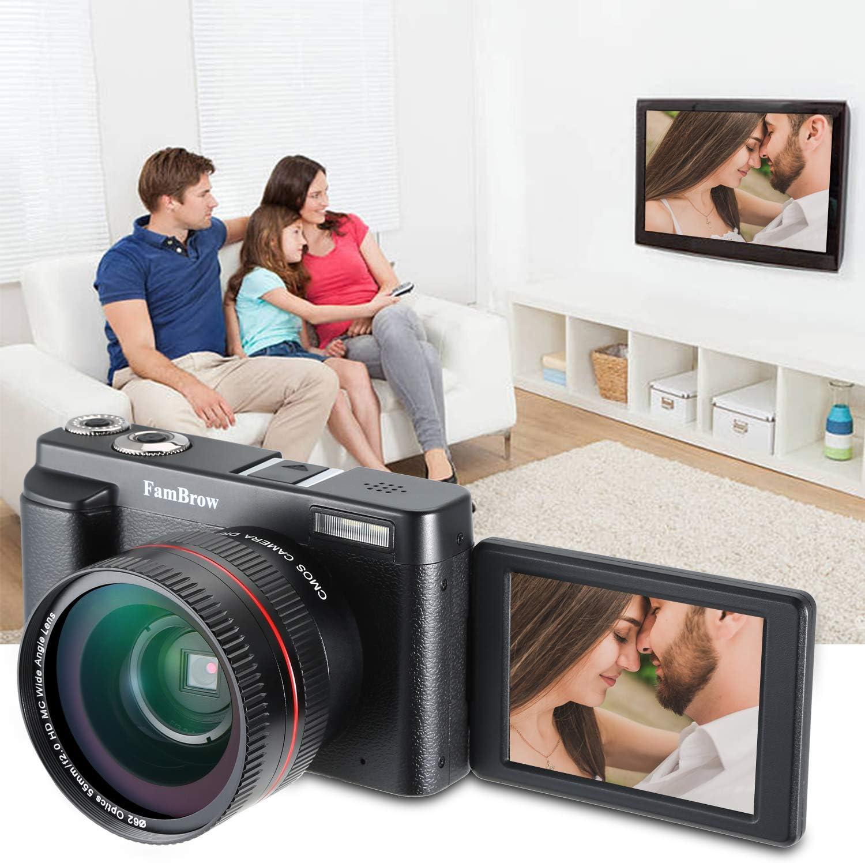 Camara Fotos Digital Full HD 1080P,FamBrow WiFi 24MP Camara de ...