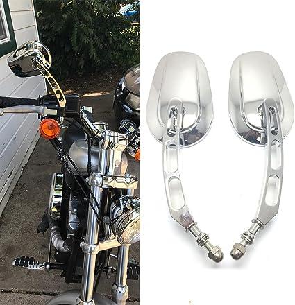 Black Rearview Mirrors with Skull Head 4 Harley-Davidson Dyna Street Bob FXDB