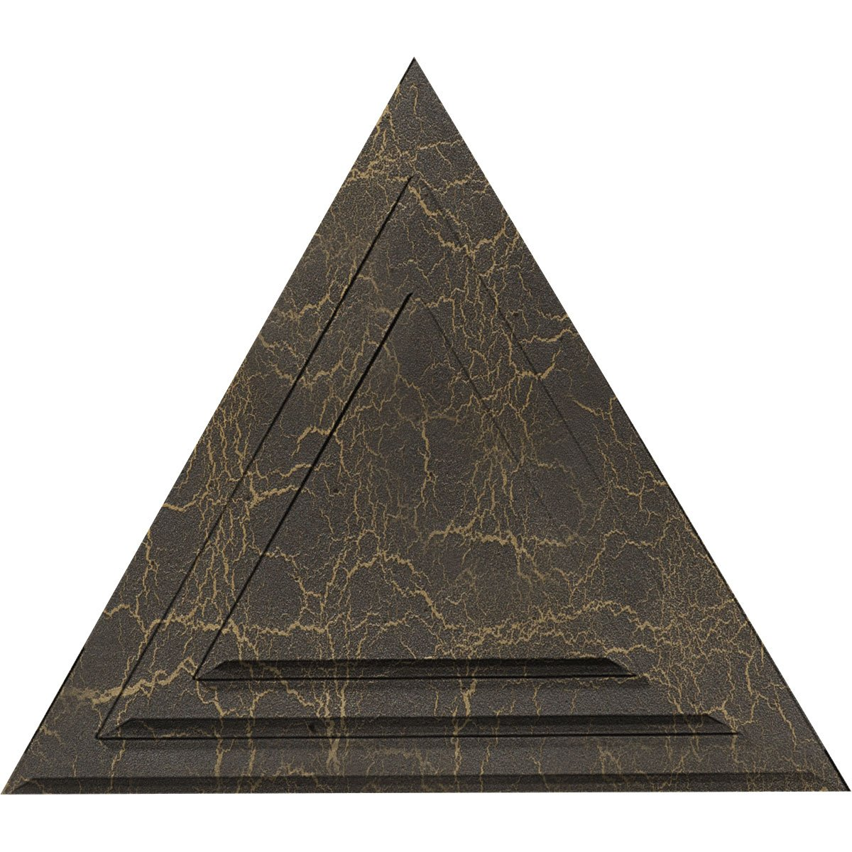 Ekena Millwork CM19TGSHC Triangle Ceiling Medallion, Stone Hearth Crackle